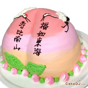 壽桃造型蛋糕